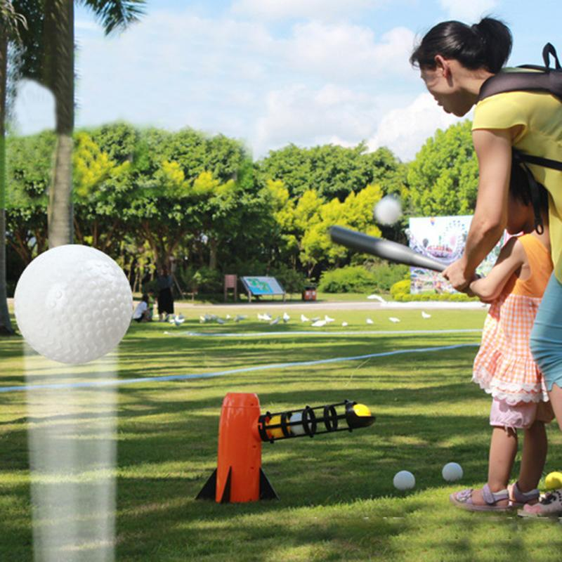 Baseball Tennis Pitching Game Machine Outdoor Toys For Children Parenting Interactive Sports Game Toys Serving Machine Gifts