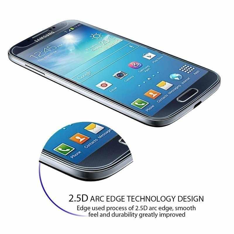 قسط الزجاج المقسى لسامسونج غالاكسي S3 S4 S5 S6 A3 A5 J3 J5 2015 2016 جراند رئيس واقي للشاشة HD طبقة رقيقة واقية