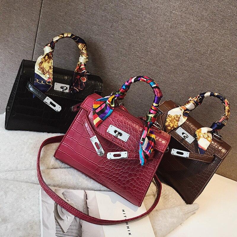 4f1bd2914d2c 2019 сумки через плечо для женщин Роскошные кожаные сумки известный  дизайнер бренда Bolsa Feminina крокодил сумка