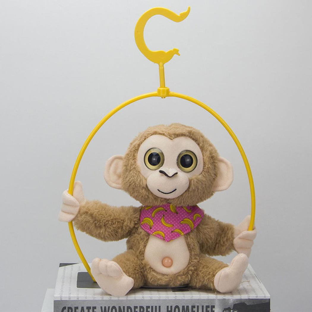 Creative Mimicry Pet Talking Monkey Repeats What You Say Electronic Plush Toy Cute Kawaii Soft Sleep Birthday Gift 4