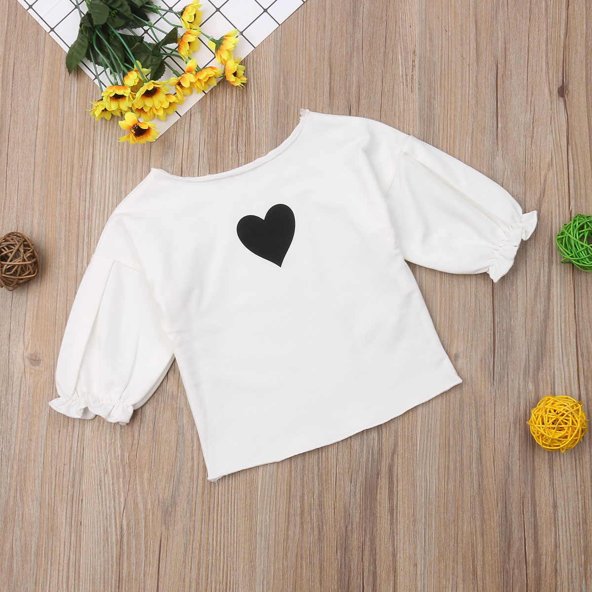 0ac48e78855e8 ... Autumn Pretty Cute Infant Kids Baby Girls Clothes T-Shirts Tops Long  Lantern Sleeve Heart ...