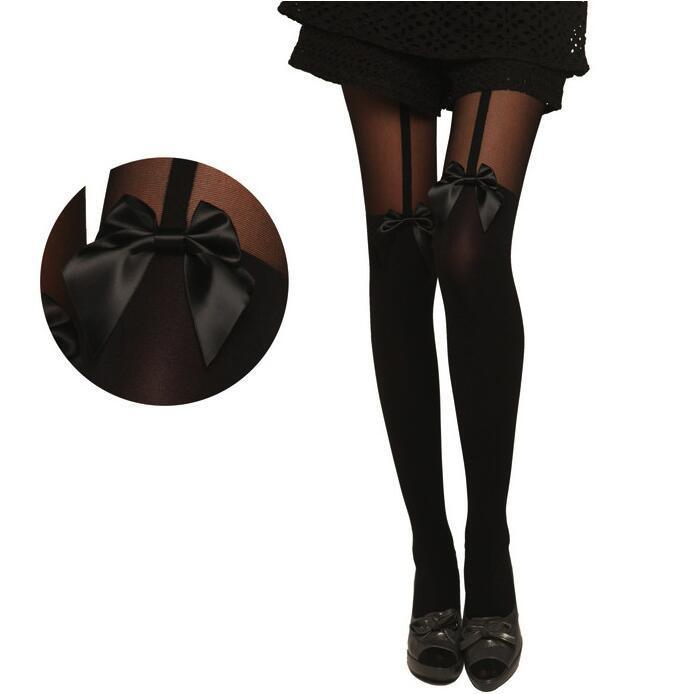 SEXY Women Lady Girls Black NET Fishnet Pattern Bowknot Stockings Pantyhose Tights  Styles 1pcs Dww28