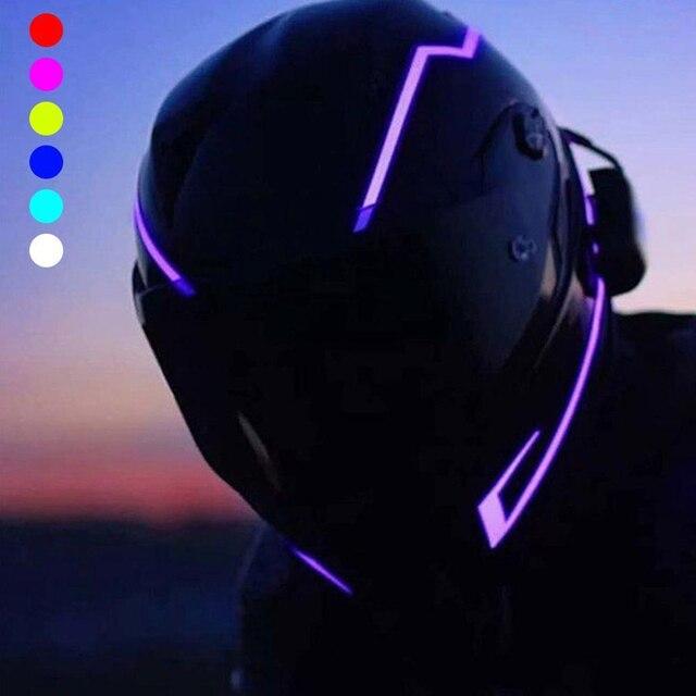 אופנוע לילה רכיבה אות עמיד למים עמיד קסדת ערכת בר מהבהב פס LED אור זרוק משלוח #1211