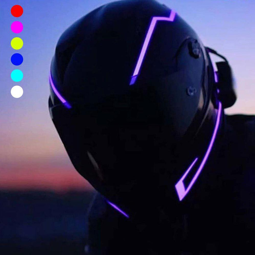 Motorcycle Night Riding Signal Waterproof Durable Helmet Kit Bar Flashing Stripe LED Light Drop Shipping #1211