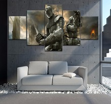 5 Piece Canvas Art Knight Templar Movie Poster Cuadros Decoracion Paintings on Wall for Home Decorations Decor