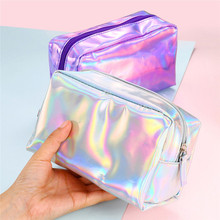 цена 1PC Women Fashion Handbags Makeup Bag Colorful Cosmetic Bag Exquisite Sequin Travel Makeup Pouch