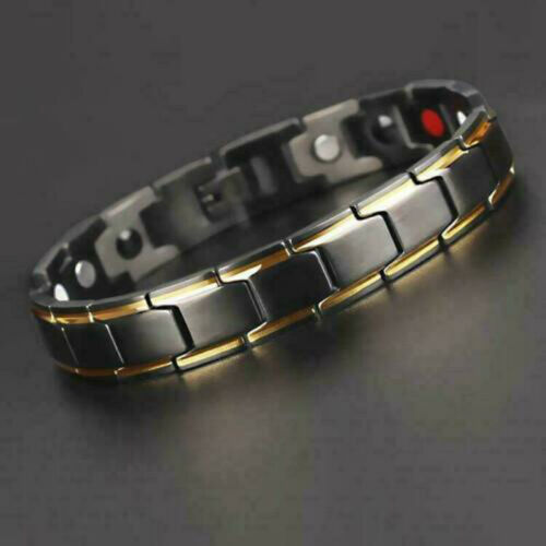 2019 New Fashion Therapeutic Energy Healing Bracelet Stainless Steel Magnetic Therapy Bracelet  4 Colors