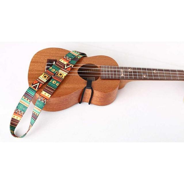 Ethnic Style Colorful Ukulele Strap Thermal Transfer Ribbon Durable Little Guitar Belt Musical Instrument Accessories 1