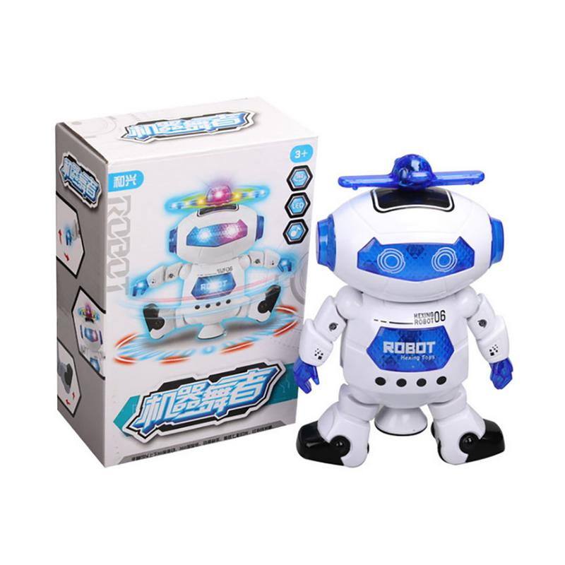 360 Rotating Smart Space Dance Robot Electronic Walking Toys Musical Flashing Gift For Kids Intelligent Astronaut Toy for Xmas