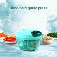 Модные мини-Чоппер измельчитель шинкователь cетчатый рюкзак с затягивающимися ручной процессор для овощи, фрукты салат лук FBE3
