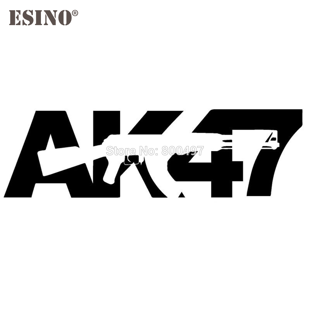 New Design AK47 Gun Auto Decals Cartoon Car Stickers Car