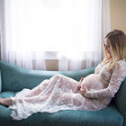 2019 Lace Maternity Dress for Shooting Photo Summer Pregnant dress Lace Crochet Long Sleeve Maxi Dresses Maternity Clothing