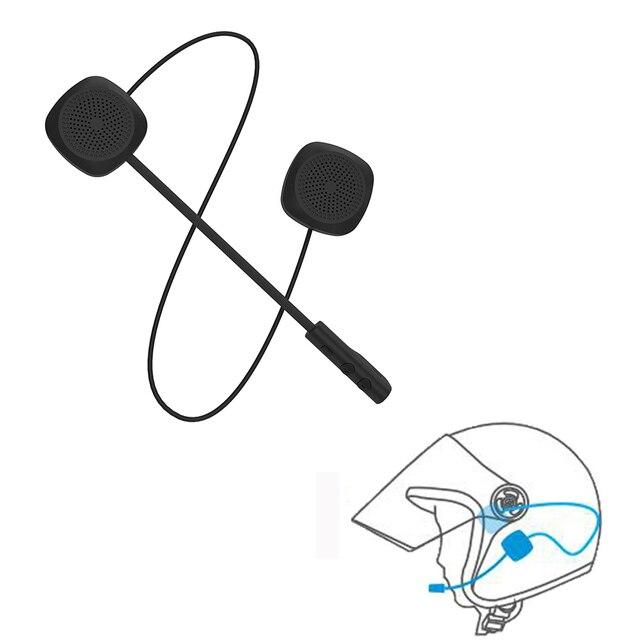 Auriculares inalámbricos Bluetooth para casco para motocicleta versión inglesa altavoces manos libres auriculares de música para teléfono