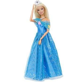 14 pçs / lote = 1x vestido de boneca copiar Cinderela princesa + 13x acessórios aleatórios sapatos bolsa óculos roupas para brinquedos boneca barbie 1
