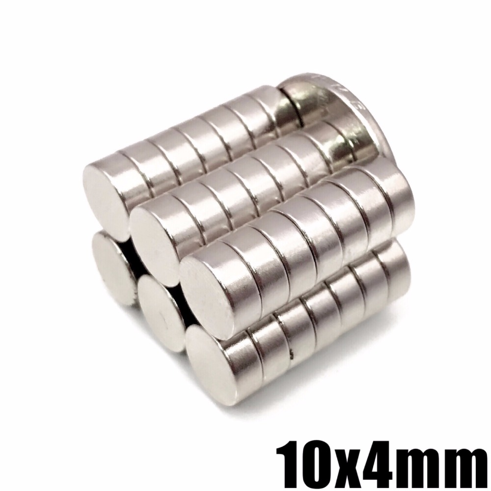 10/20/50/100Pcs 10x4 Neodymium Magnet 10mm x 4mm N35 NdFeB Round Super Powerful Strong Permanent Magnetic imanes Disc 10*4(China)