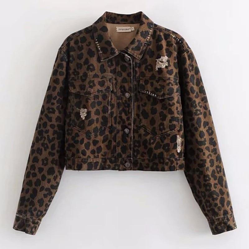 Chaqueta Leopardo Print Abrigo Mujer Ropa De Feminino Mujeres Casaco rYxWwqrZCP