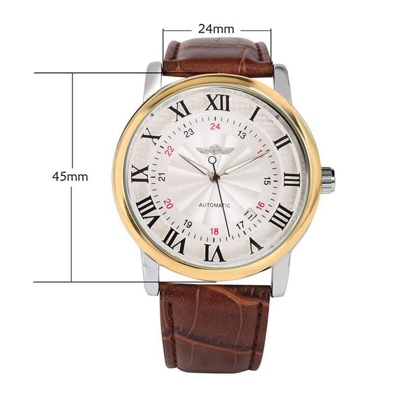 WINNER Top Famous Brand Men Business Self Winding Men 39 s Watches Sports Mechanical Skeleton Automatic Watch Men 39 s Wrist Watch in Mechanical Watches from Watches
