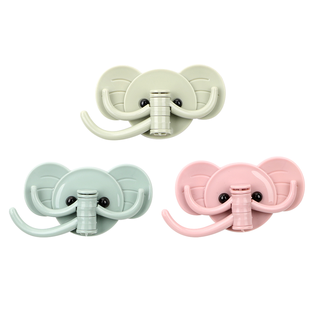 Elephant  Adhesive Hooks Creative Strong Hanging Hanger Holder Hooks Bathroom Kitchen Sticking Hook