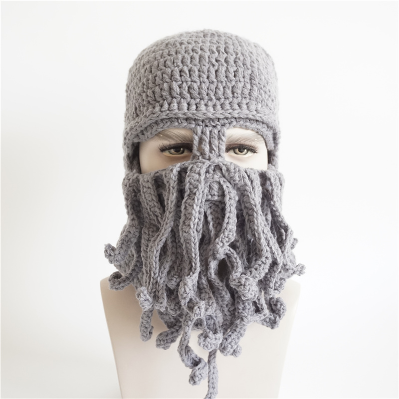 Personalidad moda sombrero tejido a mano Halloween partido regalo ...