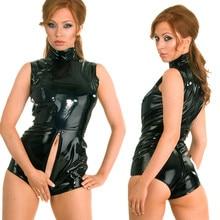 dd3ec823c2 Details about Sexy Latex PVC Bodysuit Catsuit Faux Leather Wet Look Bodycon Jumpsuit  Costumes(China