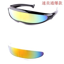f1660c54a 2019 بارد X-الرجال الروبوتات الليزر النساء النظارات الشمسية الرجال الملونة  مرآة الملتصقة عدسة نظارات شمسية القيادة يندبروف نظارا.