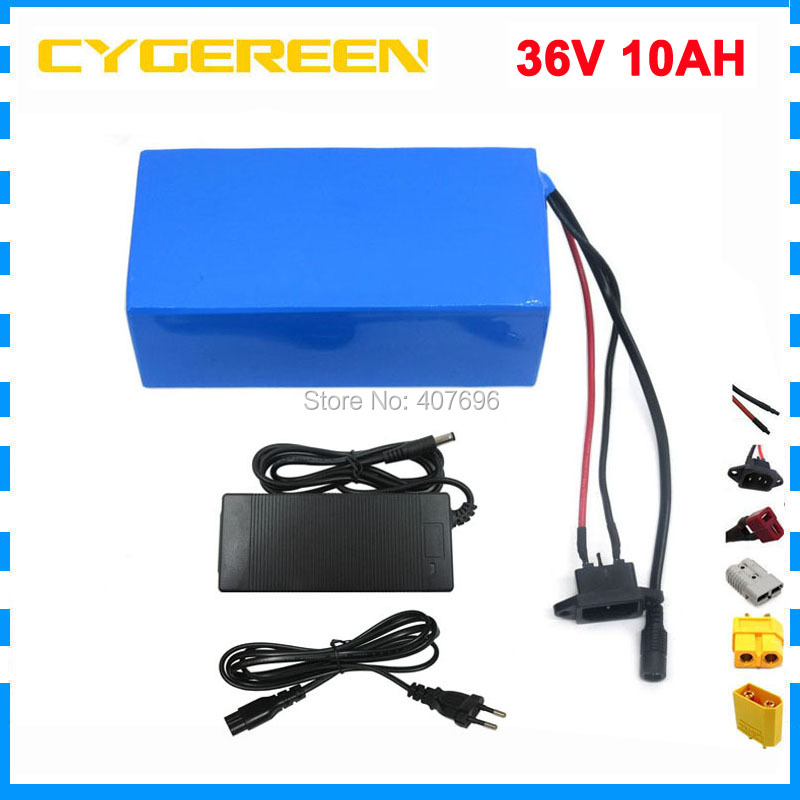 350W 36V 10S5P 10Ah 500W High power capacity 42V 18650 lithium battery pack ebike electric car bicycle motor scooter with BMS