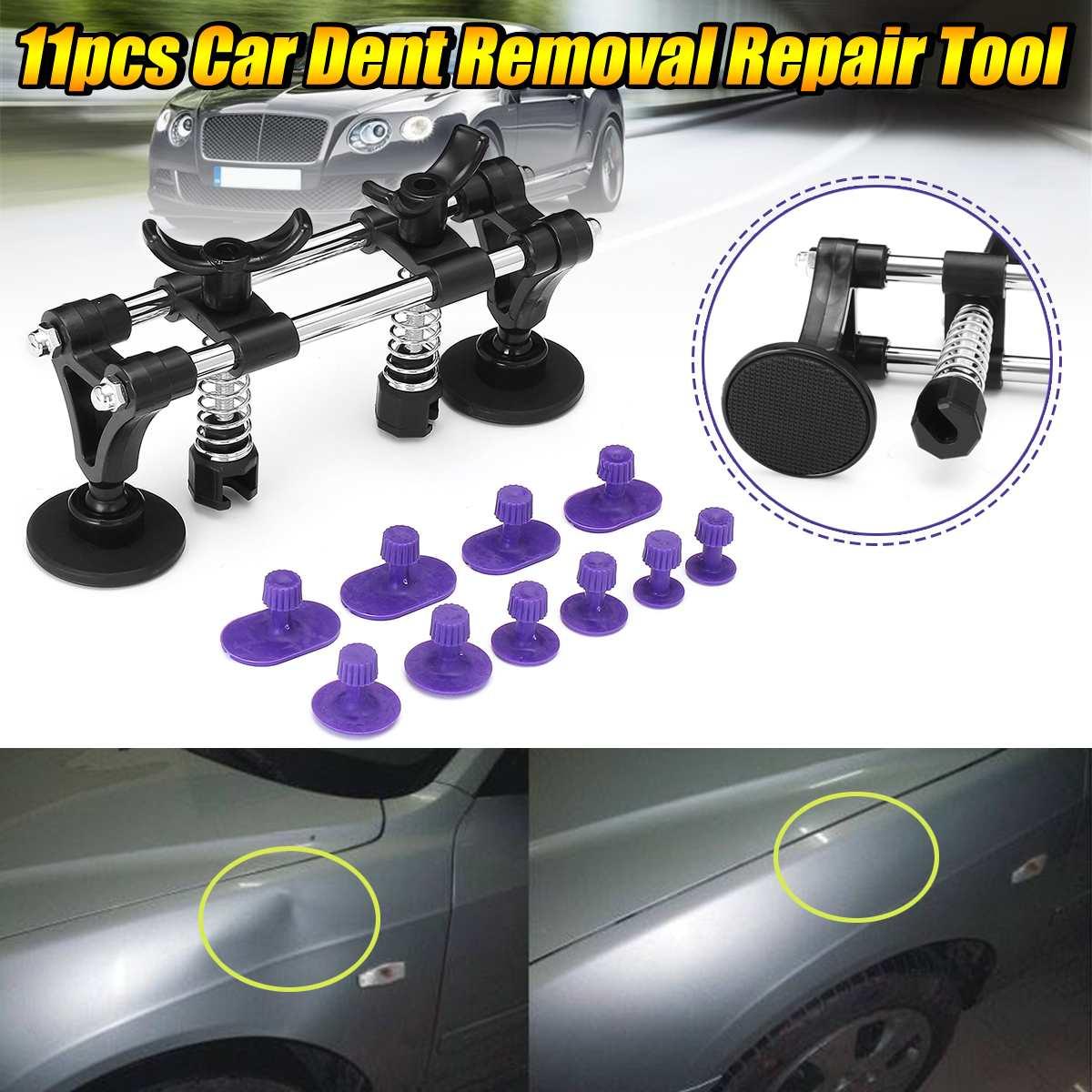 1set Paintless Dent Repair Dent Puller Kit Car Auto Body Removal Slide Suction Cup Bridge Set Car Damage Maintence Repair Tool
