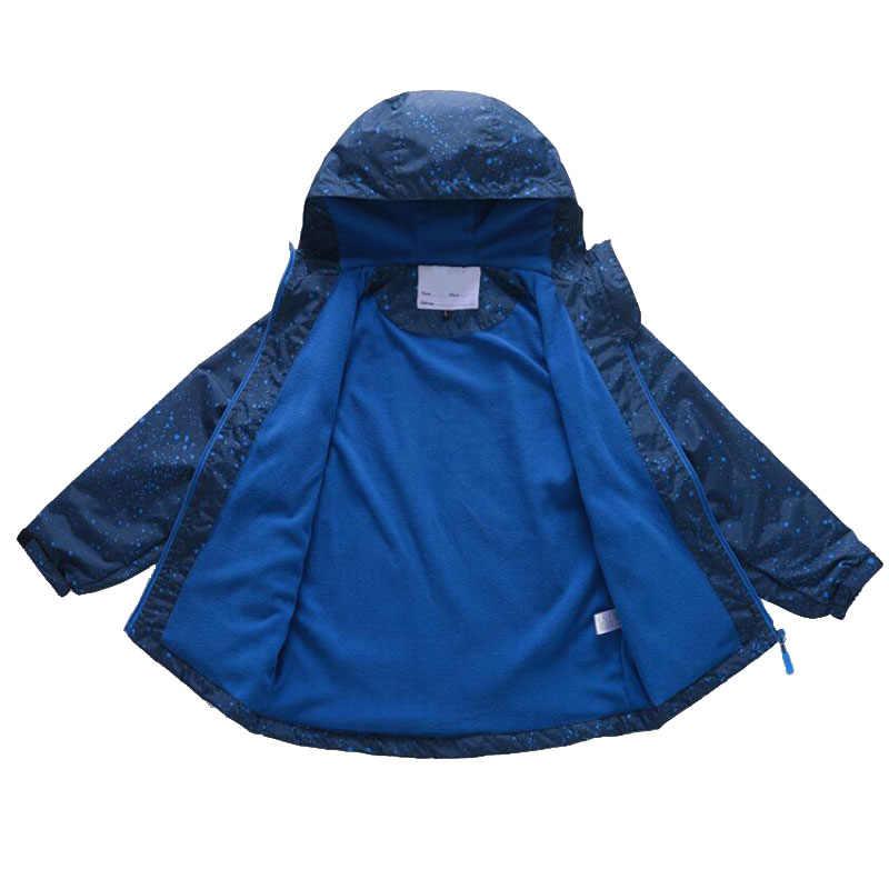 Куртки для мальчиков; коллекция 2019 года; Весенняя верхняя одежда для мальчиков; водонепроницаемая ветрозащитная толстовка; спортивные куртки для детей; теплые флисовые пальто