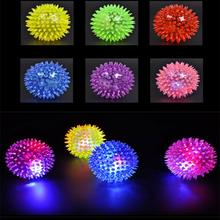 1 Ball Light Up Reliever years Ball x Flashing Rubber old Hedgehog with Stress 3 Bouncing Glowing Squeeze Toys