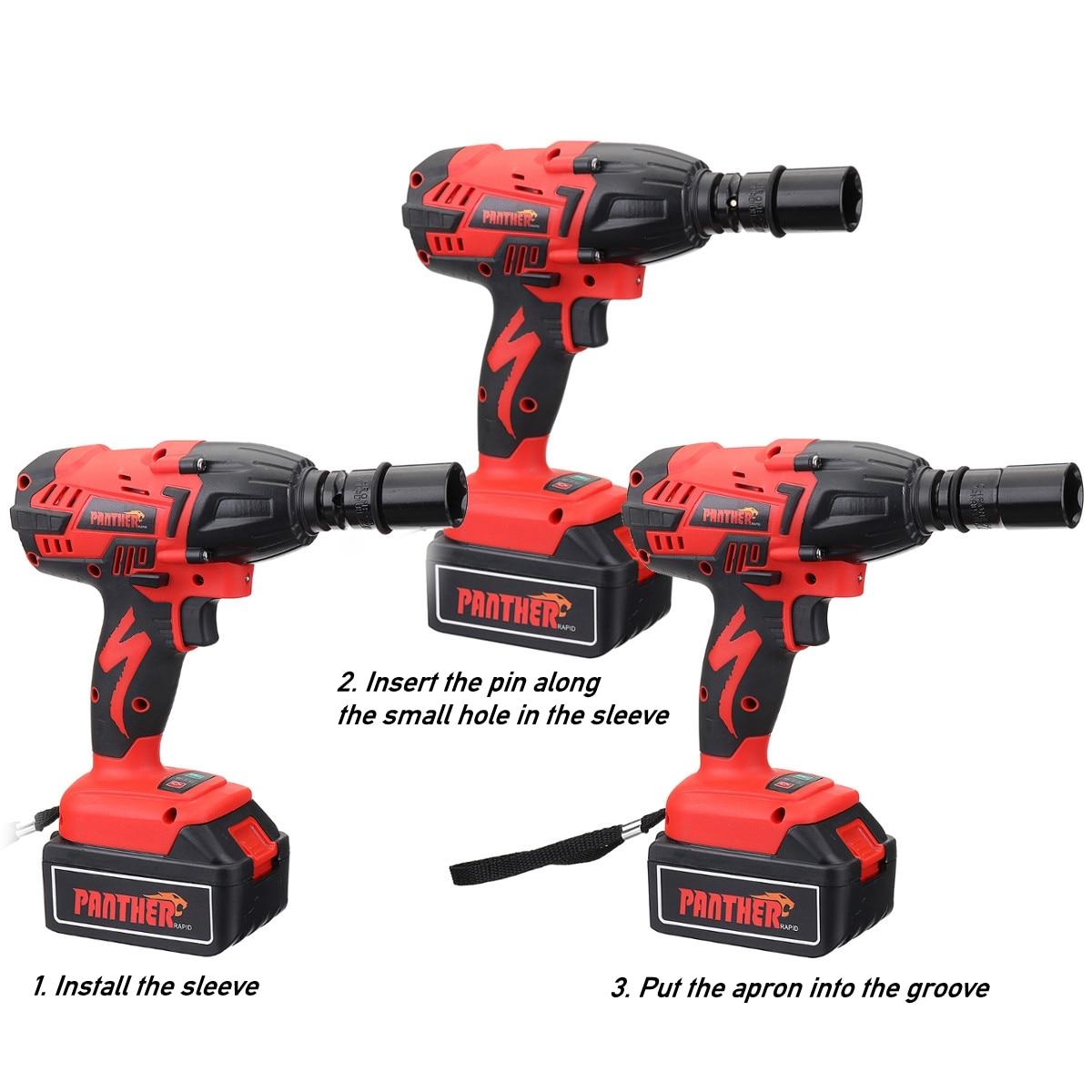 25 V 8800Ah Li-ion clé à chocs électrique pistolets 320Nm haute clé à chocs sans fil 1/2 Batteries 1 chargeur outil électrique - 5