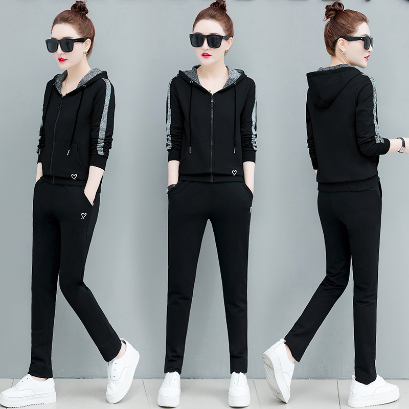 Hoodies Pants Top Outfit Casual Two-Piece Suit Women Spring & Autumn New Korean Fashion Loose Big Yards Fleece Clothing Set