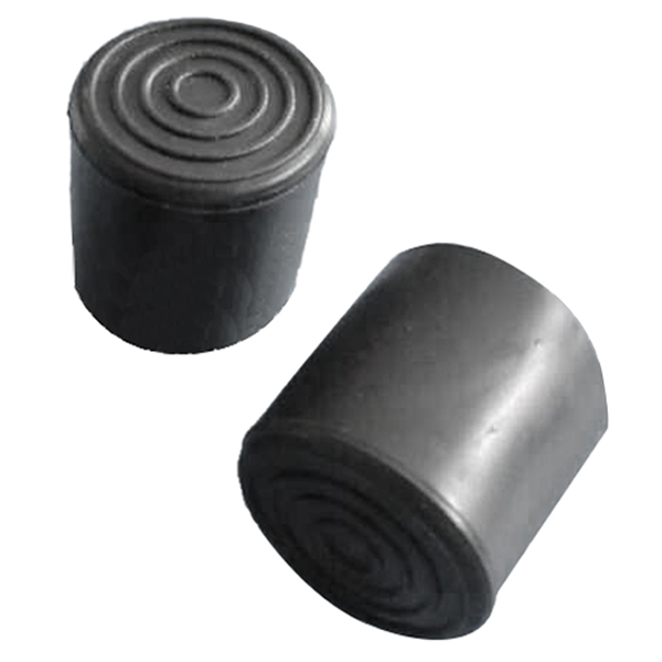 Rubber Furniture Crutch Feet Stool Chair Leg Tip Pad 4Pcs Black