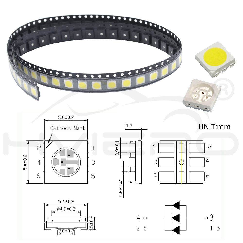 Active Components Back To Search Resultselectronic Components & Supplies Useful 1000pcs Smd/smt 5050 Led Red Yellow Green Blue White Warm White Rgb Plcc-6 Chip-3 Super Bright Lamp Light High