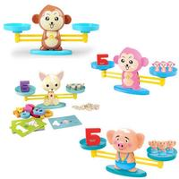 Math Balancing Scale Number Balance Board Game Money Pig Dog Animal Figure Learning Education Baby Preschool Toys Plastic