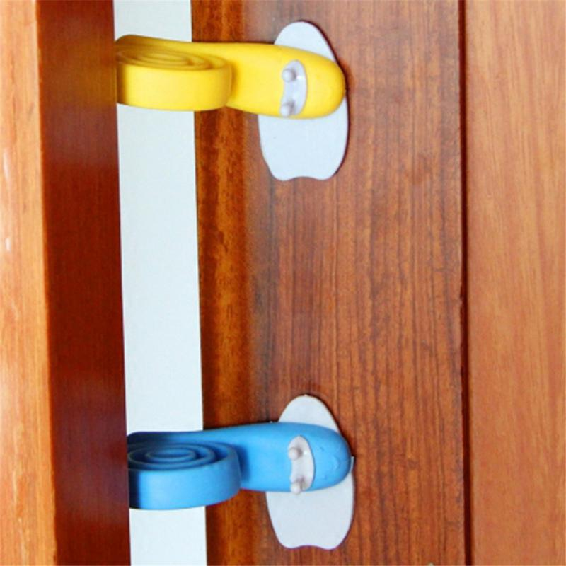 3 PCS Baby Safety Door Stopper Plastic Door Stops Colorful Snail Model Protector For Children