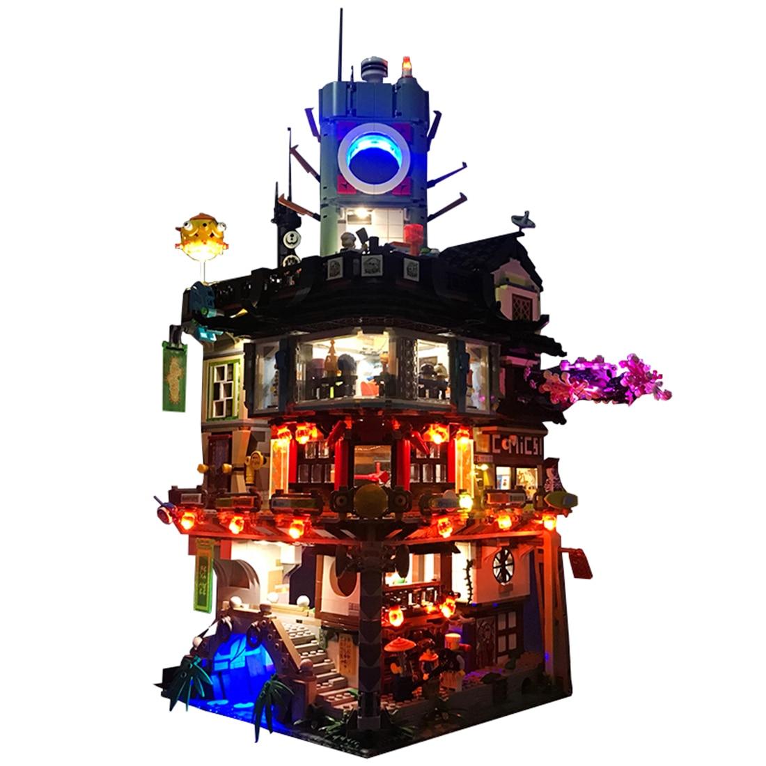 LED Light Building Block Brick DIY Kit For Le Go Ninjago City Master Of Spinjitzu 70620 Creative Gift For Children (Light Only)LED Light Building Block Brick DIY Kit For Le Go Ninjago City Master Of Spinjitzu 70620 Creative Gift For Children (Light Only)