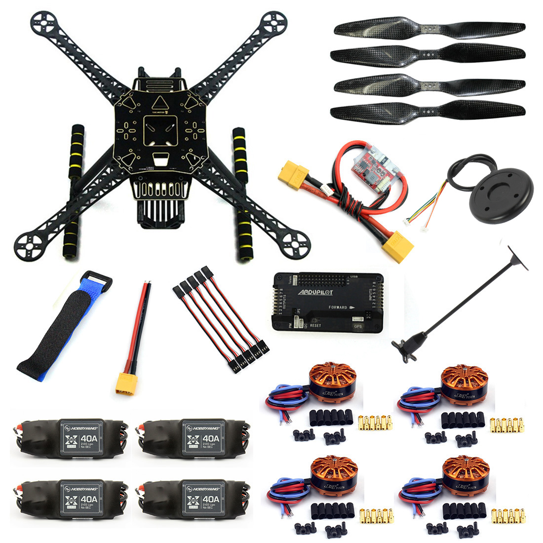DIY RC Aircraft FPV Drone S600 Quadcopter Frame Kit with APM 2 8 Flight Control 40A