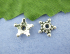 140PCs Charms Starfish Beads Caps Findings 9mm (B00443)