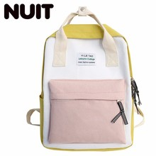 Female Canvas Backpack Bags Woman Students Schoolbags Fashion Both Shoulders School Wind Bag For Teenagers Girls