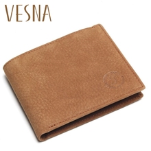 Vesna 2019 New Crazy Horse Leather Men Wallets Vintage Genuine Wallet For Cowboy Top Thin To Put