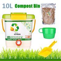 10L Kitchen Compost Bin รีไซเคิล Composter Aerated Compost Bin PP Homemade อินทรีย์ถังขยะถังอาหารขยะ