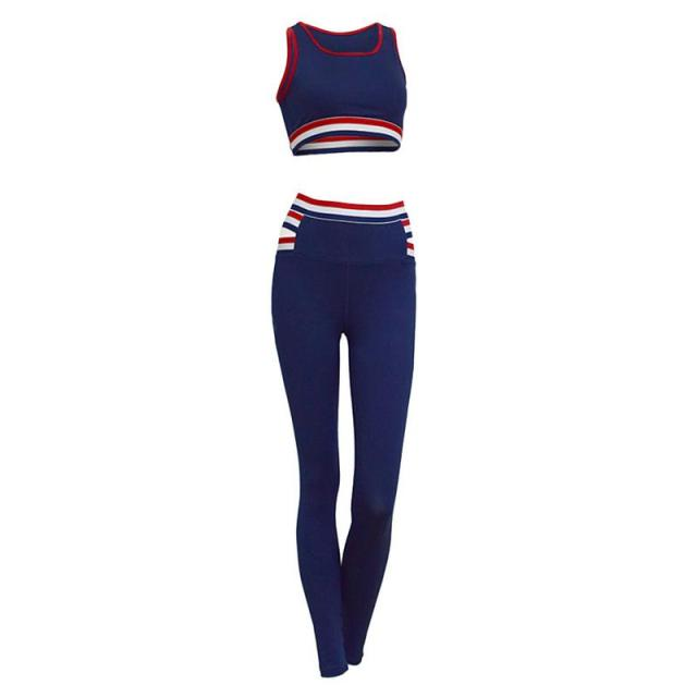 2 Piece Set Sports Suit with Leggings