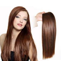 Indian Human Hair Weft Silky Straight Wave Colored Bundles Non remy Hair Extension