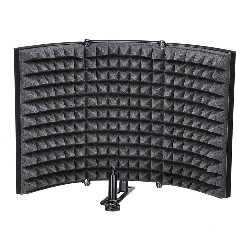 Folding Studio Microphone Isolation Shield Recording Sound Absorber Foam Panel Soundproof Wall Stickers Sponge Studio Foam