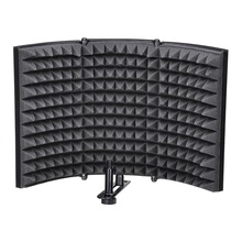 Folding Studio Microphone Isolation Shield Recording Sound Absorber Foam Panel Soundproof Wall Stickers Sponge