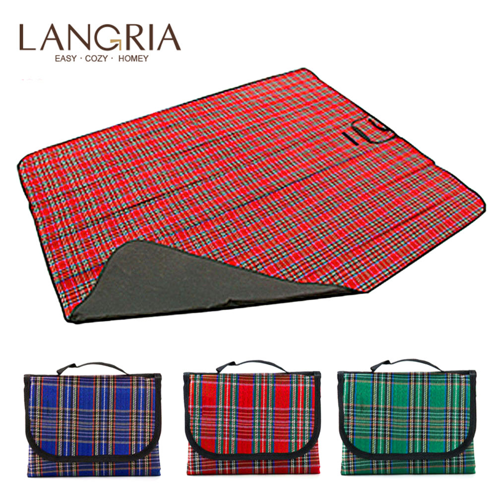 Picnic Rug Blanket Waterproof Extra Large Travel Pet Summer Roll-up Red or Green