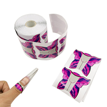 Roll Crystal Gel Polish Extension Finger Decoration Accessories Butterfly Pattern Nail Art Paper Holder Self-Adhesive Forms Tray