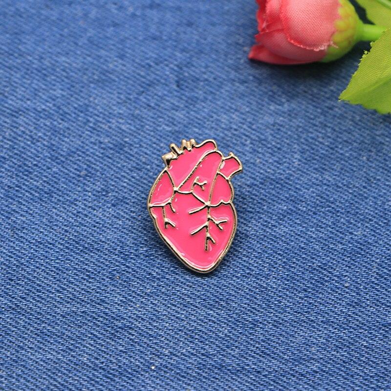 Apparel Sewing & Fabric Apprehensive Cartoon Funny Brooches Red Heart Enamel Pin For Boys Lapel Pin Hat/bag Pins Denim Jacket Shirt Women Brooch Badge Sc4307 Street Price