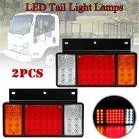 For ISUZU Elf Truck NPR NKR NHR 1984 up Waterproof 2Pc 50LED 2V Pair LED Rear Tail Light Lamps