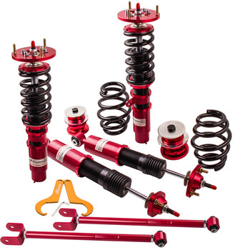 Coilover Shock Absorber Suspension For BMW E46 98-06 323i 325xi 328ci 330i Adjustable Damper Coilovers struts with control arm - discount item  20% OFF Auto Replacement Parts